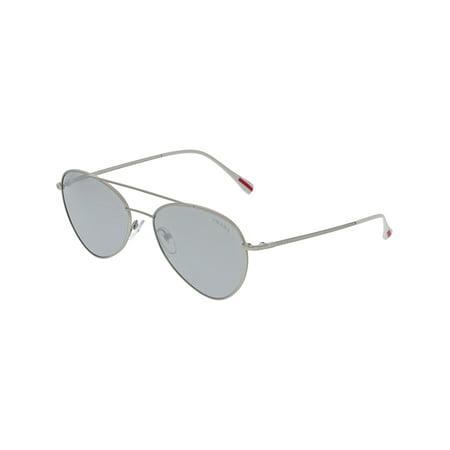 Prada Linea Rossa PS50SS-1AP2B0-57 Silver Aviator Sunglasses ()