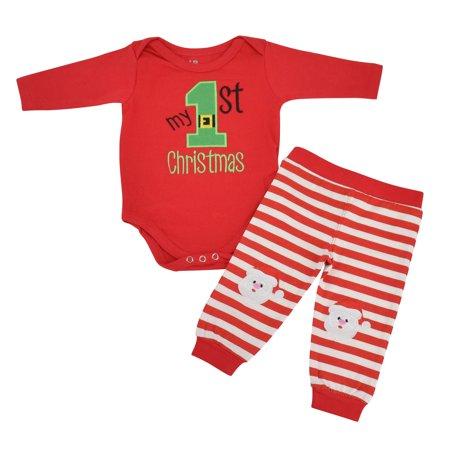 5b5bf88302d2d Unisex My 1st Christmas Outfit Santa Layette Set (Newborn)
