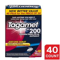 Tagamet HB 200 mg Cimetidine Acid Reducer and Heartburn Relief, 40 Count