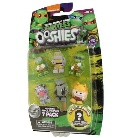 Ooshies Teenage Mutant Ninja Turtles Series 1 Set 4 7 Figure Set