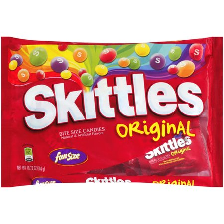 Skittles Original Fun Size Candy, 10.72 Oz. (Personalized Skittles)