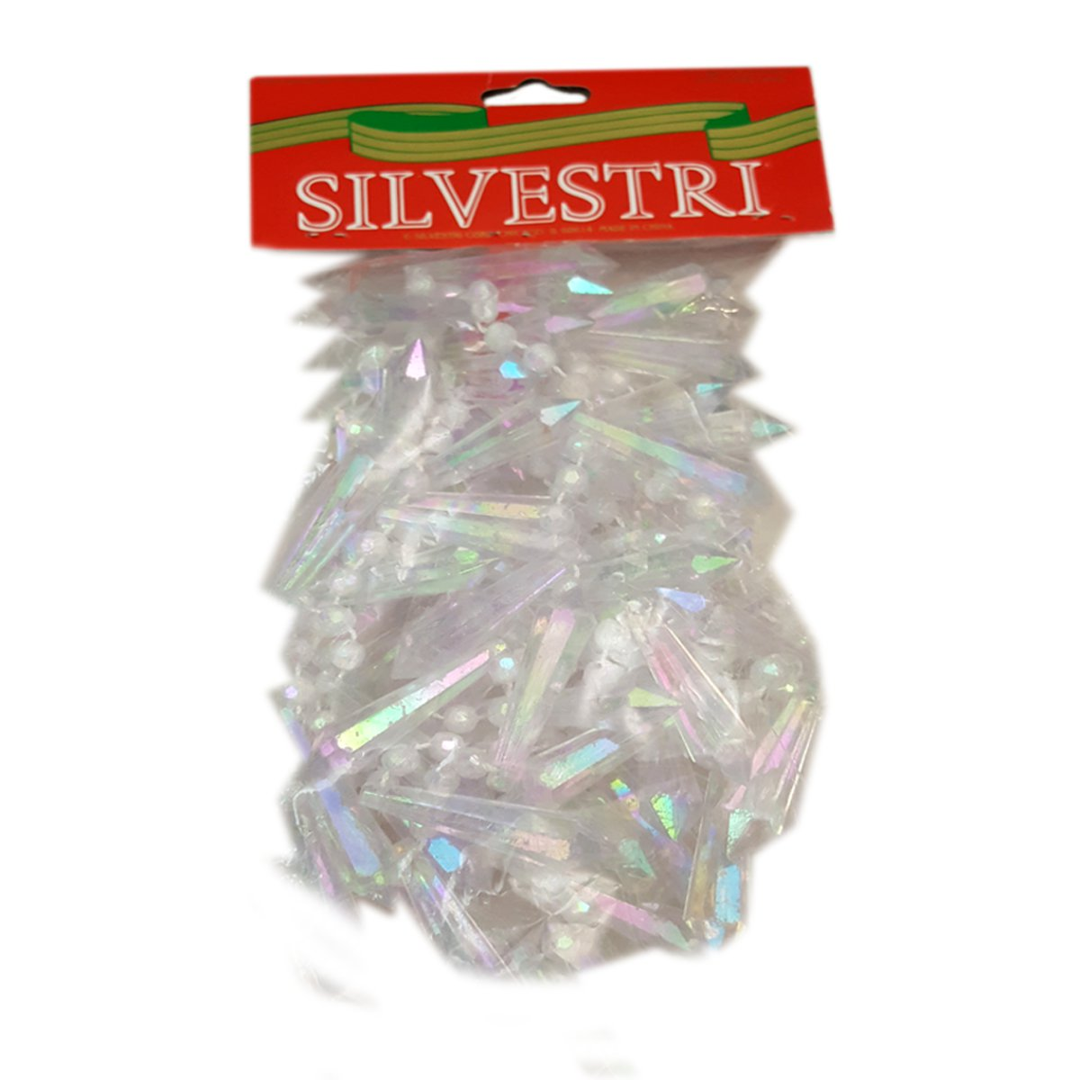 Silvestri Iridescent Crystal Chandelier Beaded Garland 8 Ft