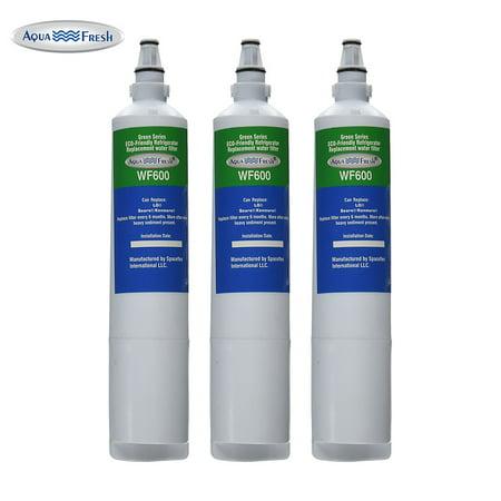 Replacement 3 Pack Aqua Fresh  Water Filter Cartridge for LG LT600P / 5231JA2006A / WF600 AquaFresh