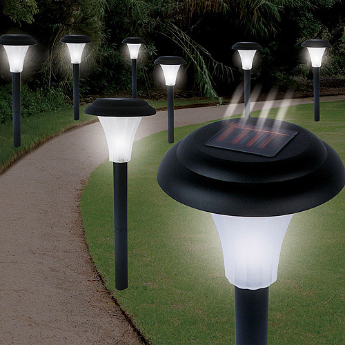 Cordless Bright Solar Accent Lights, Set of 8