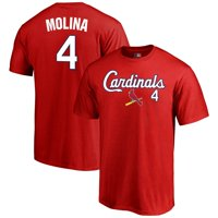 Men's Fanatics Branded Yadier Molina Red St. Louis Cardinals Name & Number T-Shirt