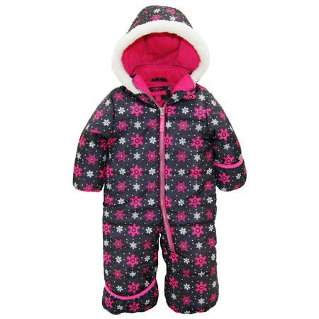 Pink Platinum Baby Girls One Piece Warm Winter Snowsuit Pram Suit Bunting Puffer Jacket - Authentic Pink Ladies Jacket