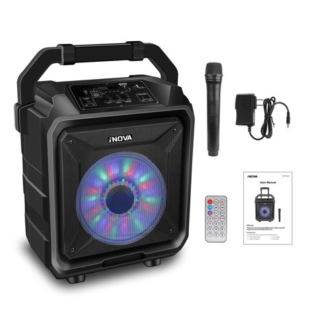 Portable Wireless Party Speaker with Disco Lighting