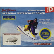 """Personal Watercraft Cover Fits 2 & 3 Seater Model D 124"""" x 48"""" x 42"""" - Silver"""
