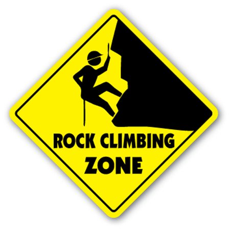 Climbing Sticker - Rock Climbing Zone [3 Pack] of Vinyl Decal Stickers | Indoor/Outdoor | Funny decoration for Laptop, Car, Garage , Bedroom, Offices | SignMission