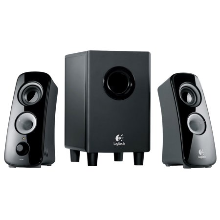 Refurbished Logitech Z323 3 Piece 2.1 Channel Computer Multimedia Speaker System - Black