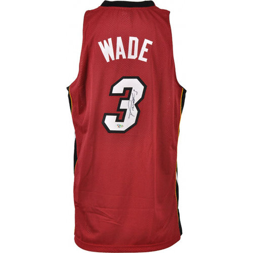 NBA - Dwyane Wade Autographed Jersey   Details: Miami Heat, Red Swingman