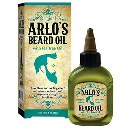 Arlo's Beard Oil With Tea Tree Oil, 2.5 oz (Tea Tree Beard Oil)