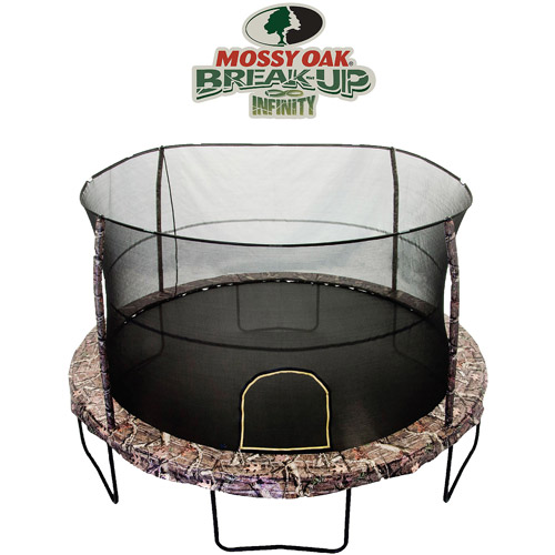 JumpKing 14-Foot Trampoline, with Enclosure, Mossy Pattern ...
