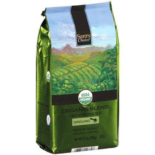 Sam's Choice Organic Blend Decaffeinated Medium Roast Ground Coffee, 12 oz