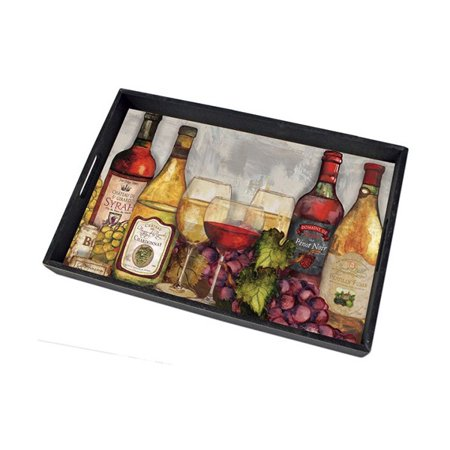 Counter Art CART80549 Wine Time Serving Tray Counter Change Tray