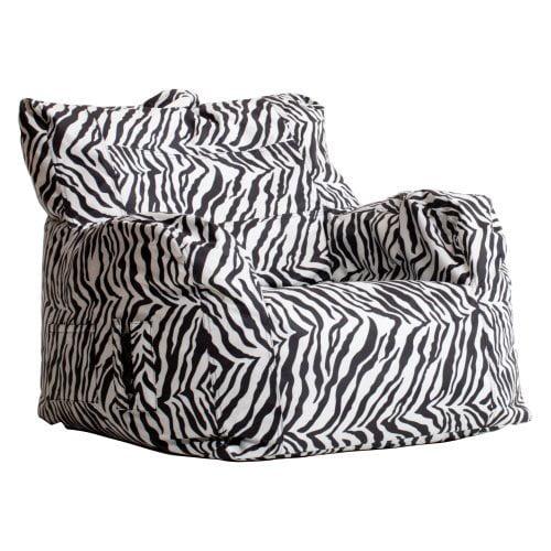 Big Joe Dorm Bean Bag Chair - Zebra