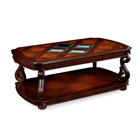 Magnussen T1648 Harcourt Wood Rectangular Coffee Table with Casters