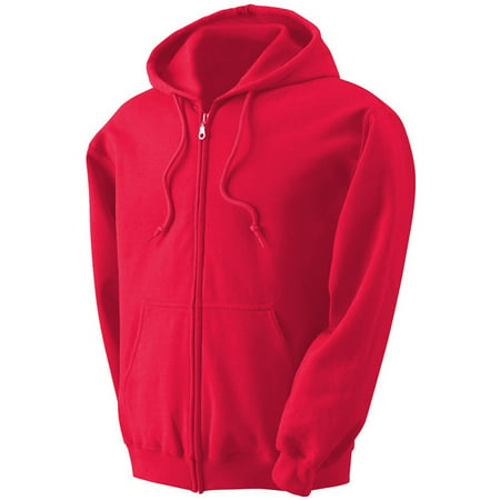 - Mens Full Zip up hoodie Fleece Zipper Heavyweight Hooded Jacket Sweatshirt
