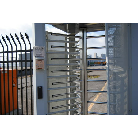 Framed Art for Your Wall Access Safety Barrier Security Control Gate Fence 10x13 -