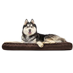 FurHaven Pet Dog Bed | Deluxe Memory Foam Ultra Plush Mattress Pet Bed for Dogs & Cats, Chocolate, Jumbo - Memory Foam Cat Bed