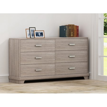 Homestar Manhattan 6 Drawer Dresser, Multiple Colors