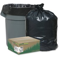 Webster Reclaim Heavy-Duty Recycled Black Can Liners, 56 Gallon, 100 Count