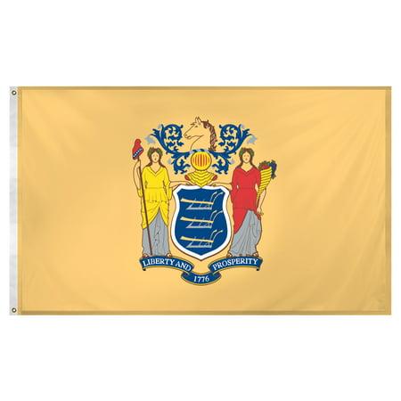 New Jersey flag 3 x 5 feet Super Knit (Jersey Garden Stores)