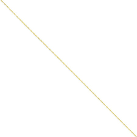 14kt Yellow Gold 1mm Singapore Chain