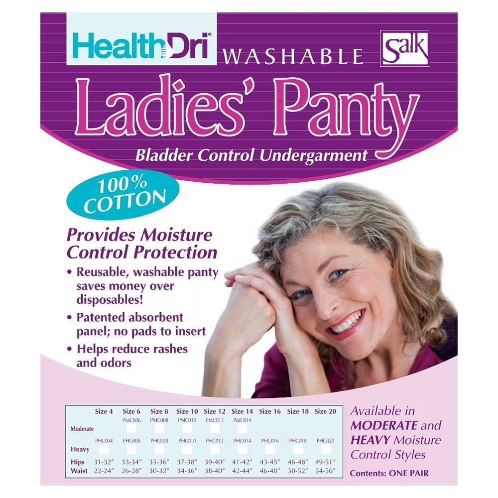 HealthDri Ladies Heavy Panties Size: Size 6, Sold by the ...