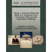 Falvey V. Foreman-State Nat Bank U.S. Supreme Court Transcript of Record with Supporting Pleadings