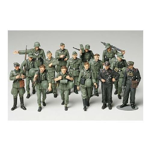 1/48 WWII Germ Infantry-Manue Multi-Colored