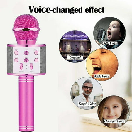 Bluetooth Wireless Karaoke Microphone, Portable Bluetooth Karaoke Player with Speaker for Home KTV Outdoor Party Music Playing & (The Best Karaoke Player)
