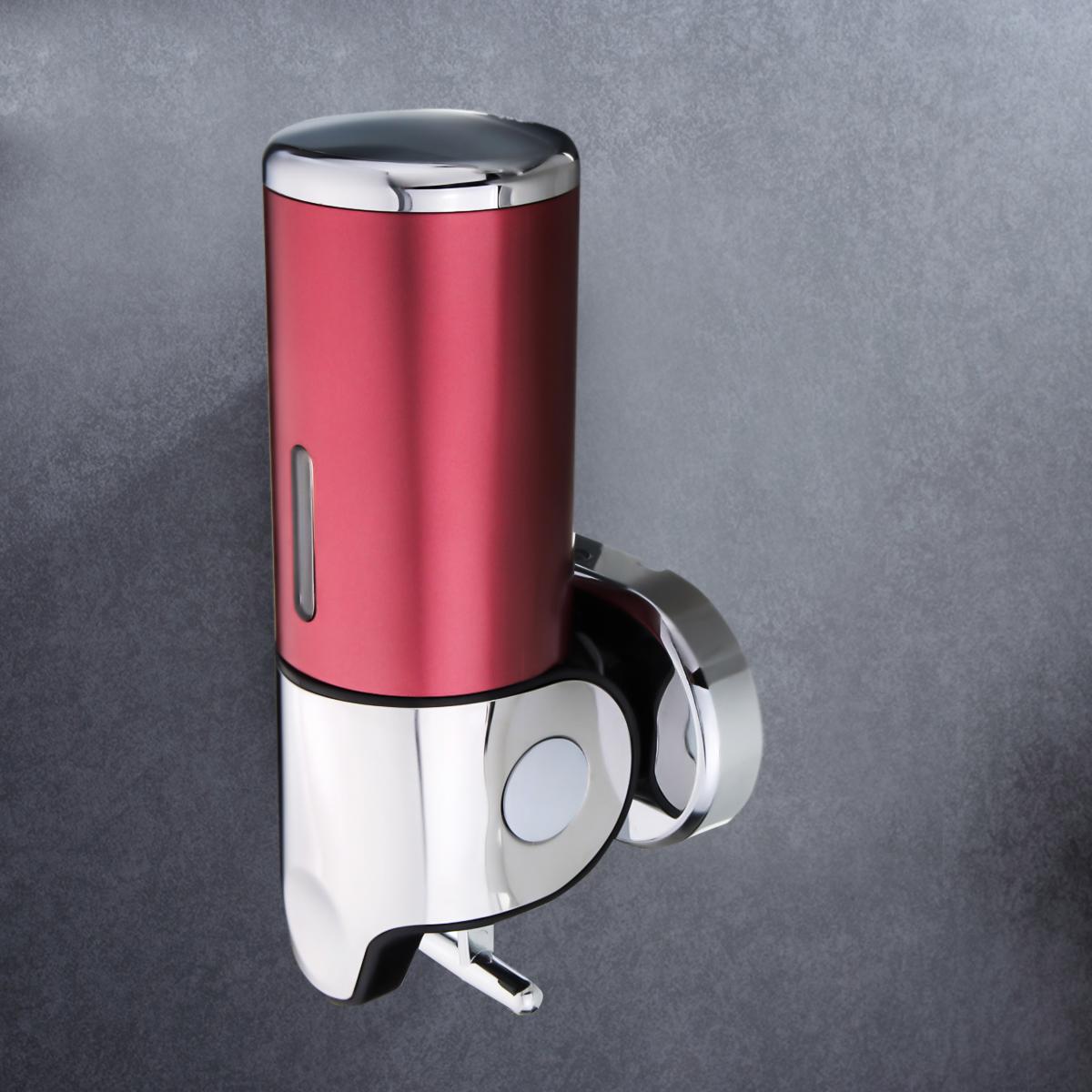 500ml Modern Wall Mount Stainless Steel Hand Soap & Lotion Dispenser Pump Foam Bottles Liquid Shampoo Container Sanitizer For Bathroom Kitchen Sink Countertops