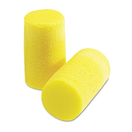 3M E A R Classic Plus Earplugs, PVC Foam, Yellow, 200 Pairs