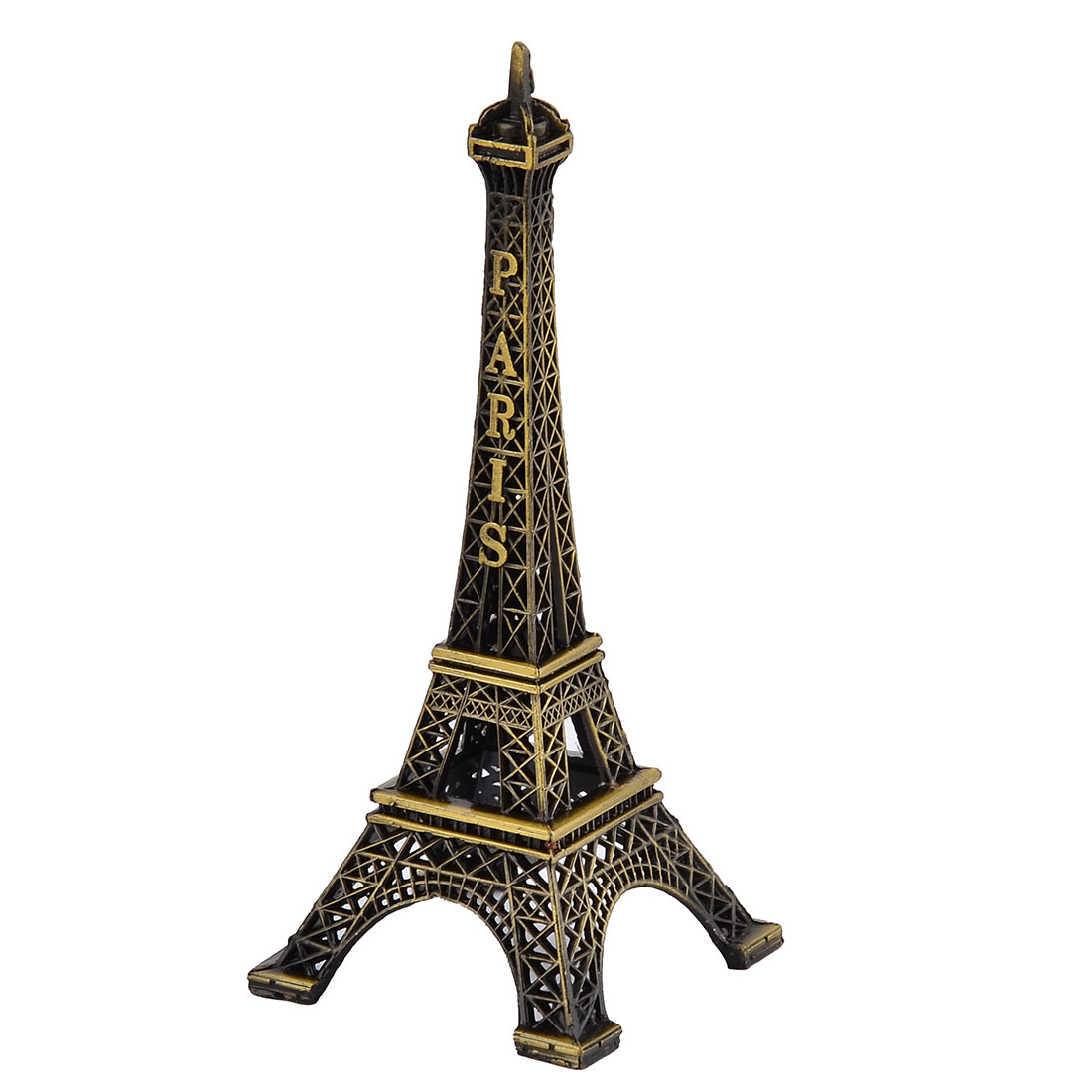Home Metal Paris Miniature Eiffel Tower Model Souvenir Bronze Tone 13cm Height
