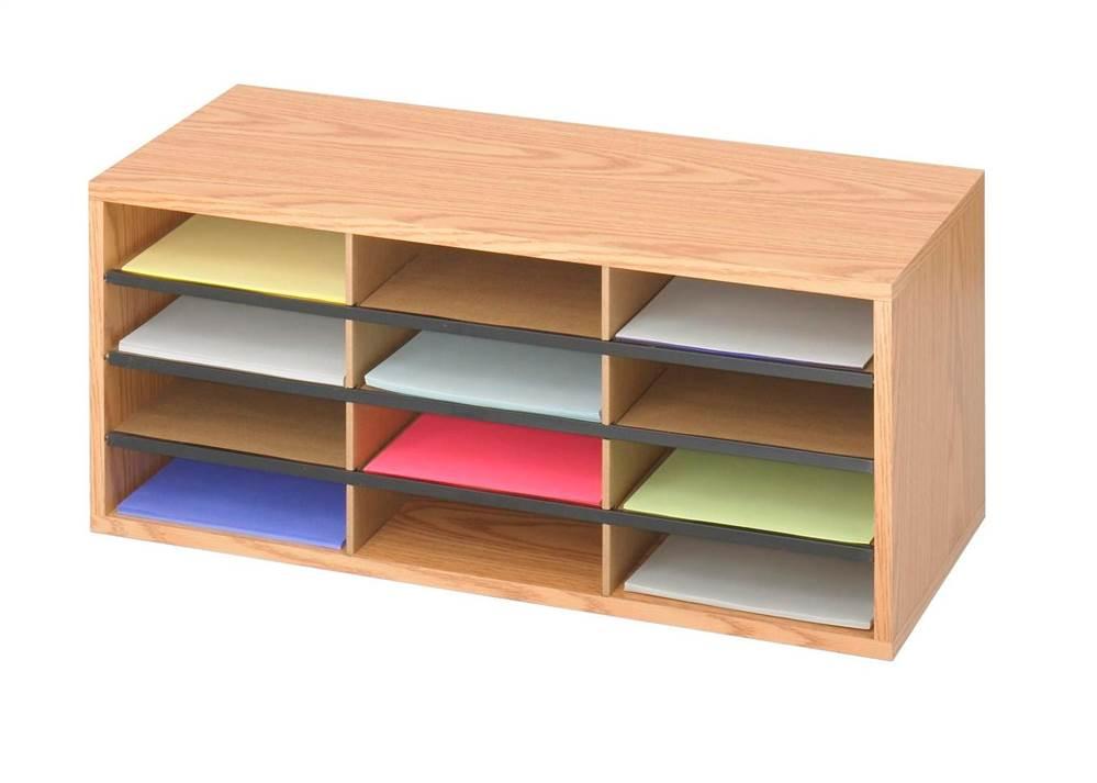 Corrugated 12 Compartment Literature Organizer by Safco