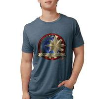 CafePress - Captain Marvel T Shirt - Mens Tri-blend T-Shirt
