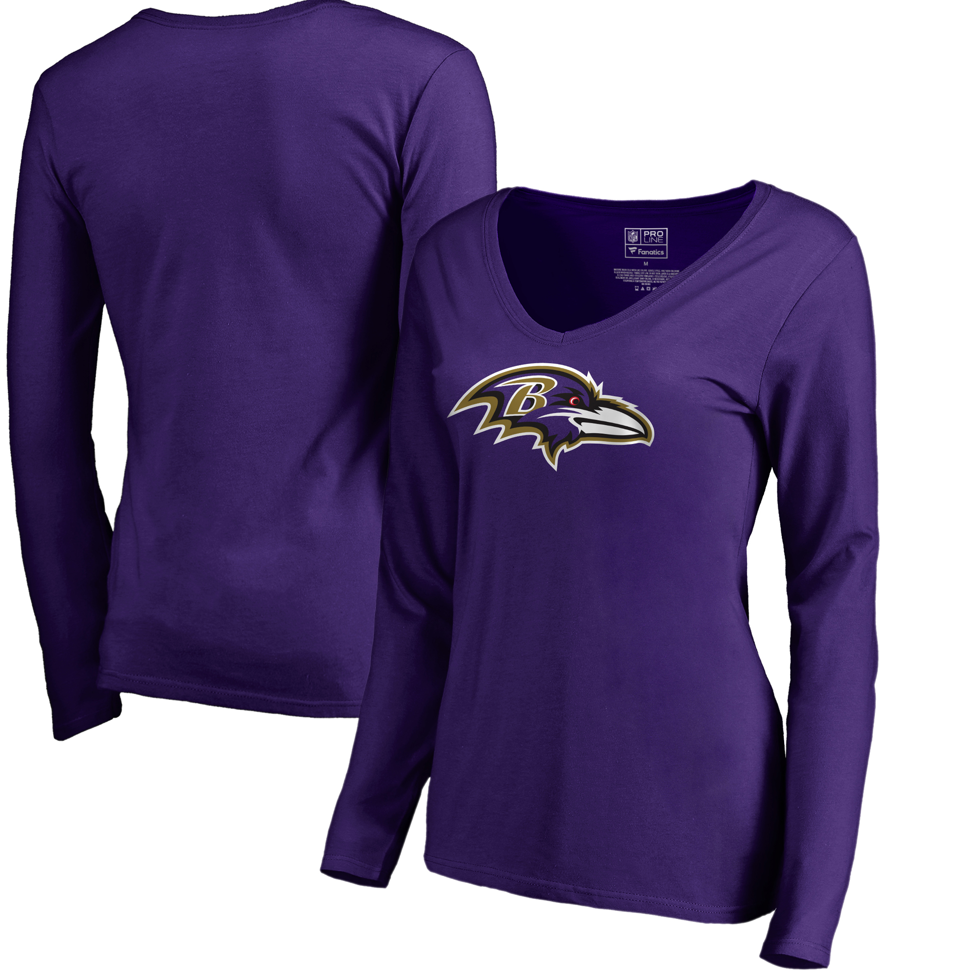 701d6548a Baltimore Ravens NFL Pro Line by Fanatics Branded Women s Primary Logo  V-Neck Long-Sleeve T-Shirt - Purple - Walmart.com