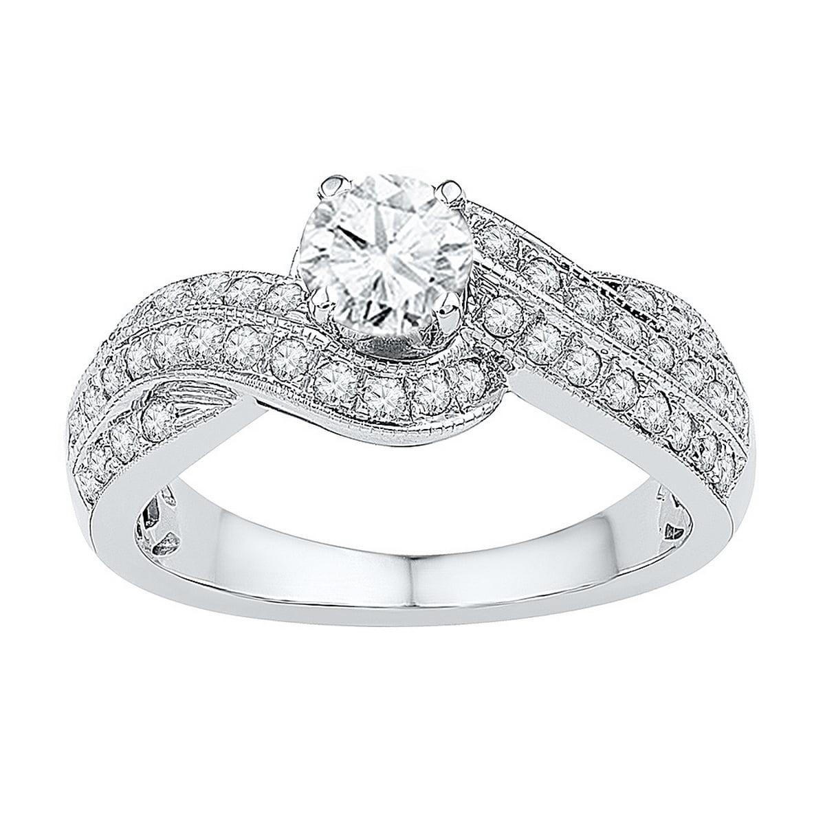 10kt Yellow Gold Womens Round Diamond Round Bridal Wedding Engagement Ring (.50 cttw.) by Mia Diamonds