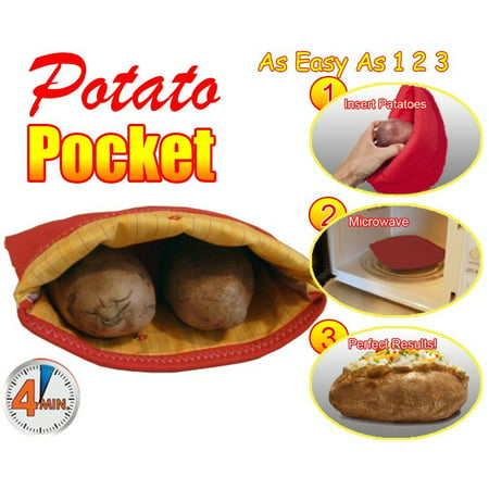 1pc 5star Microwave Potato Pocket Baked Baking Bag Perfect Potatoes In 4 Minutes