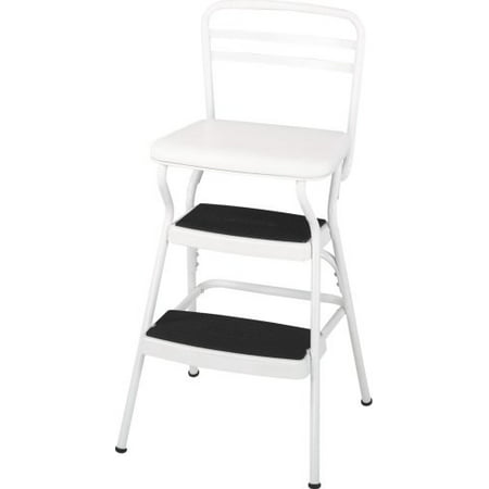 Cosco Retro Counter Chair Step Stool With Lift Up Seat