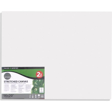 - Simply Stretched Canvas, Various Sizes, 2 pk