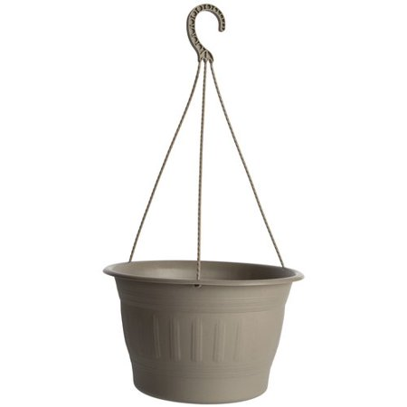 """Image of 12"""" Colonnade Hanging Basket Planter, Cement"""