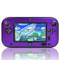 Purple Hard Aluminium + PC Skin Case Cover For Nintendo Wii U Gamepad Remote Controller