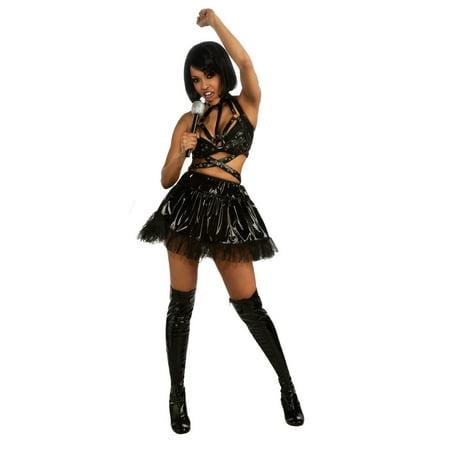 Adult Rihanna Black Vinyl Concert Costume Rubies - Yale Halloween Concert