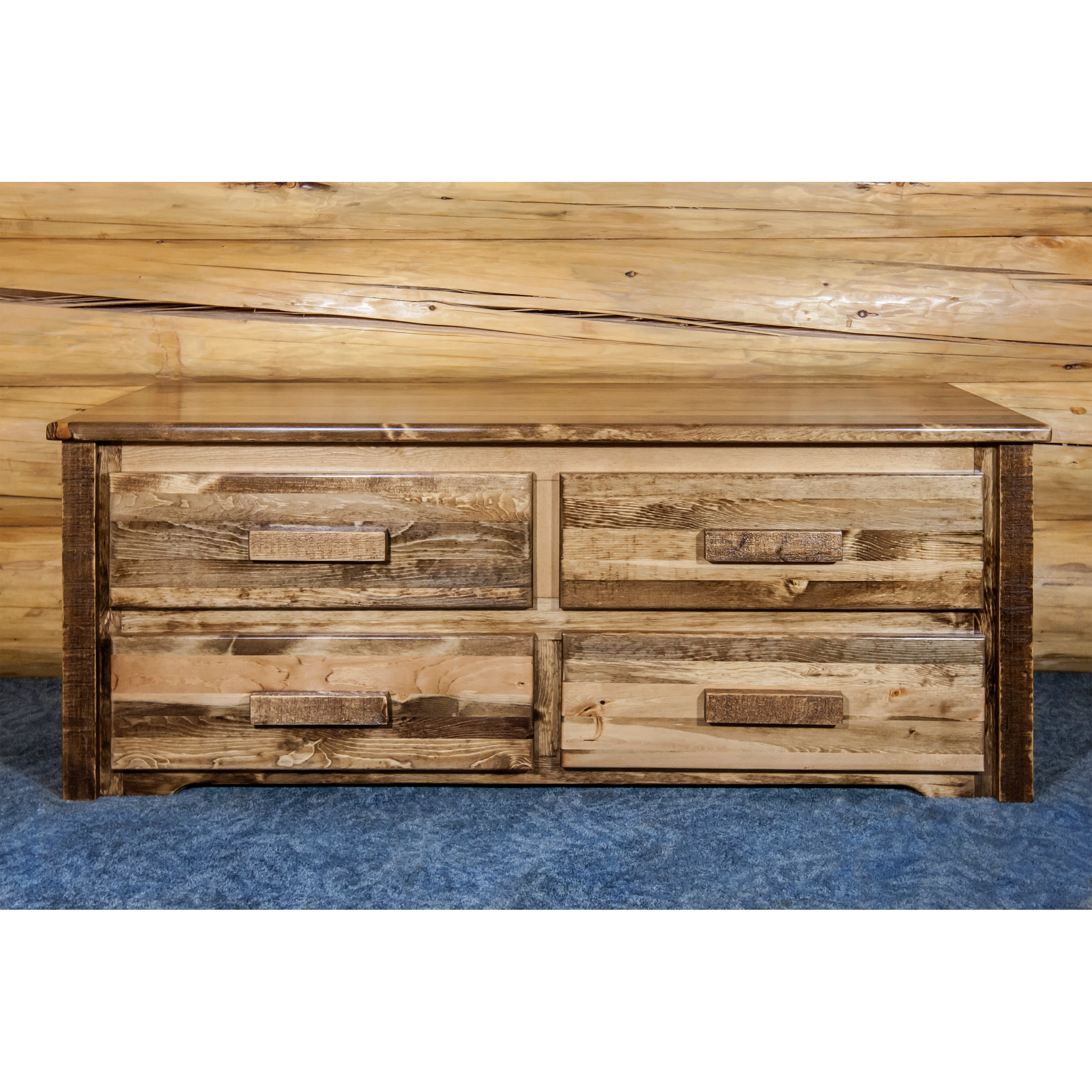 Montana Woodworks Homestead 4 Drawer Sitting Chest