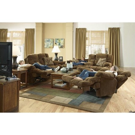 Catner Concord 3 Piece Lay Flat Reclining Sofa Set In Pecan