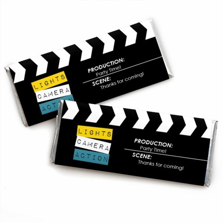 Movie - Hollywood Candy Bar Wrappers Party Favors - Set of 24 (Hollywood Themed Parties)