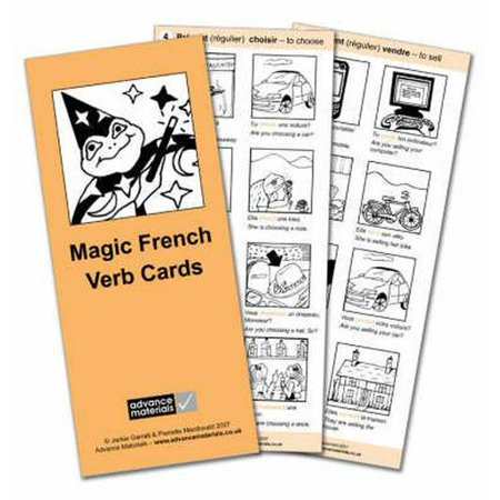 Magic French Verb Cards Flashcards (8) : Speak French More Fluently! - Halloween Flashcards French