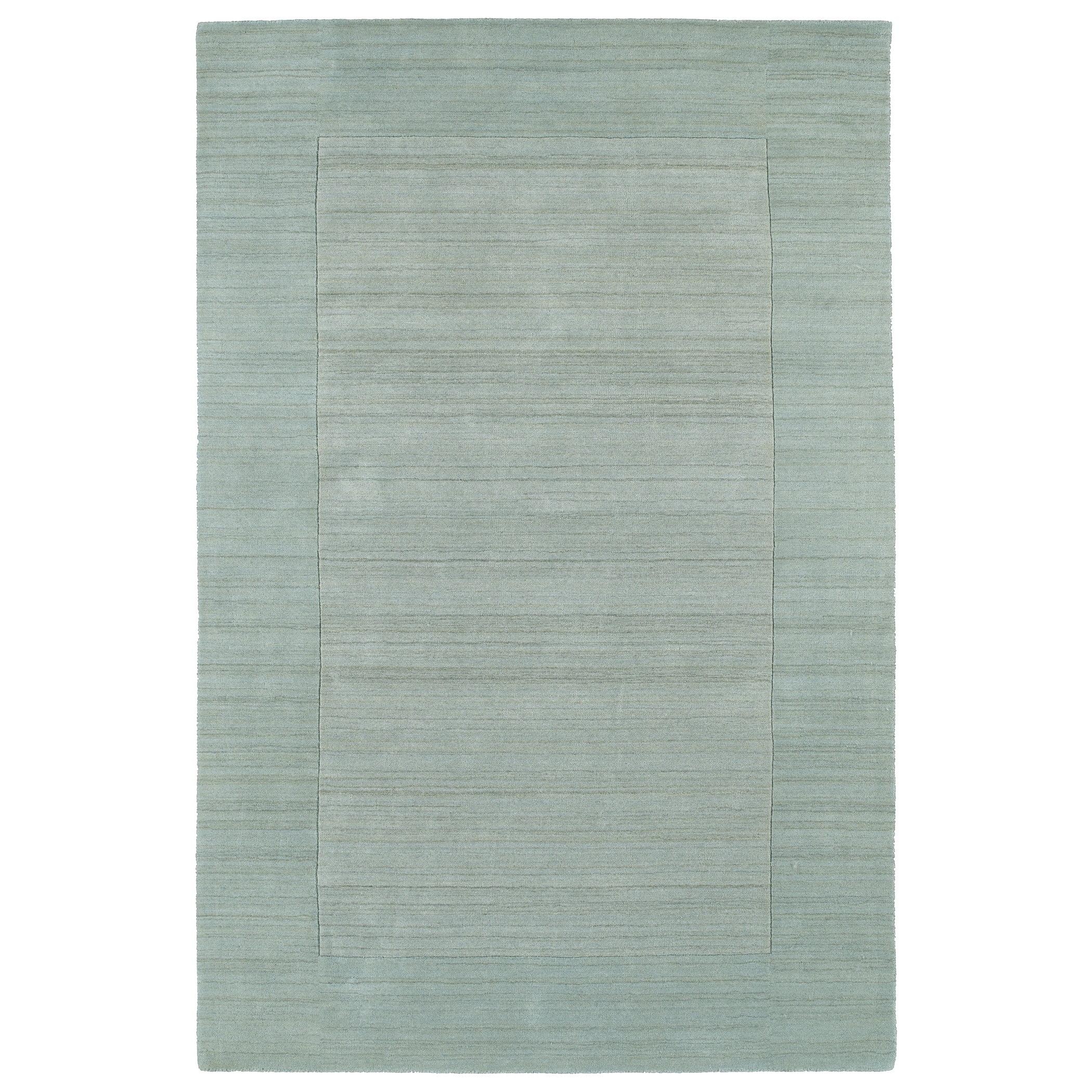 Kaleen Rugs Borders Spa Hand-Tufted Wool Rug (8'0 x 10'0)